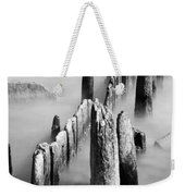 Misty Wooden Posts Weekender Tote Bag