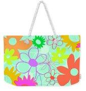 Mixed Flowers Weekender Tote Bag by Louisa Knight
