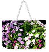 Mixed Impatiens In Dappled Shade Weekender Tote Bag