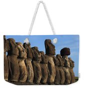 Moai Along The Coast Of Easter Island Weekender Tote Bag