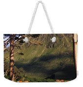 Mobile Homes At A Lakeside In Front Of Weekender Tote Bag