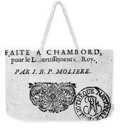 Moliere (1622-1773) Weekender Tote Bag