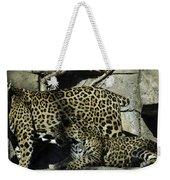 Mom And Baby Cheetah Weekender Tote Bag