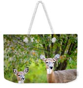 Mom And Baby Deer Weekender Tote Bag
