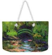 Momet's Water Lily Garden Toward Evening Weekender Tote Bag