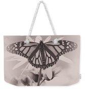 Monarch On Sunflower Weekender Tote Bag