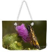 Monarch On Thistle 2 Weekender Tote Bag