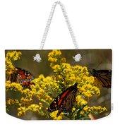 Monarchs On Yellow Weekender Tote Bag