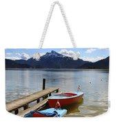 Mondsee Lake Boats Weekender Tote Bag