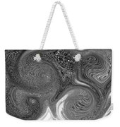 Mono Swirl Abstract Weekender Tote Bag