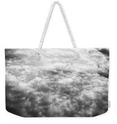 Monochrome Clouds Weekender Tote Bag
