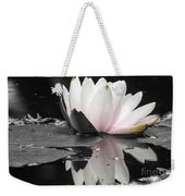 Monochrome Lily Weekender Tote Bag
