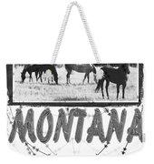Montana Horse Design Weekender Tote Bag