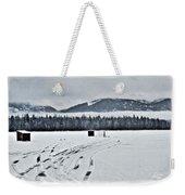 Montana Ice Fishing Weekender Tote Bag