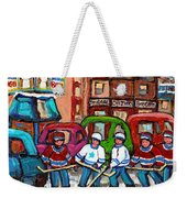 Montreal Bagels And Hockey Weekender Tote Bag