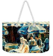 Montreal Cafe City Scenes Prince Arthur And Duluth Street Weekender Tote Bag