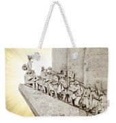 Monument To Discoveries Weekender Tote Bag