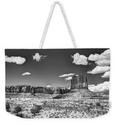 Monument Valley In Monochrome  Weekender Tote Bag