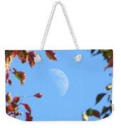 Moon Amidst Red Leaves Weekender Tote Bag