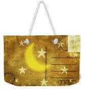 Moon And Star Postcard Weekender Tote Bag