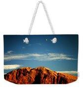 Moon Over Red Rocks Garden Of The Gods Weekender Tote Bag