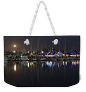 Moon Over The Marina Weekender Tote Bag