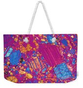 Moon Rock, Transmitted Light Micrograph Weekender Tote Bag