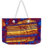 Moon Rock, Transmitted Light Micrograph Weekender Tote Bag by Michael W. Davidson
