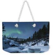 Moonlight And Aurora Over Tennevik Weekender Tote Bag