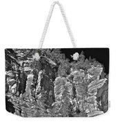 Moonlit Cliffs Weekender Tote Bag