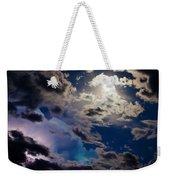 Moonlit Clouds With A Splash Of Lightning Weekender Tote Bag