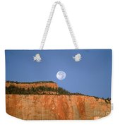Moonrise Over East Temple - Zion  Weekender Tote Bag
