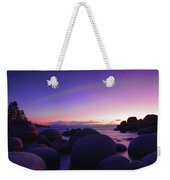 Moonrise Over Tahoe Weekender Tote Bag