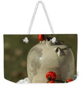 Moonshine Jug And Pumpkin On A Stick Weekender Tote Bag