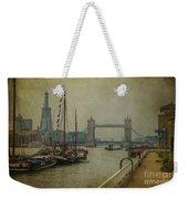 Moored Thames Barges. Weekender Tote Bag