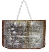 Mooresville - Belle Mina Junior High School 1967 Weekender Tote Bag by Kathy Clark