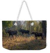 Moose Family Weekender Tote Bag