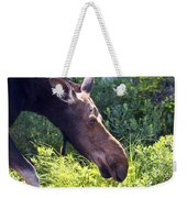 Moose Profile Weekender Tote Bag