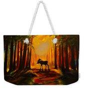 Moose Sunset Weekender Tote Bag