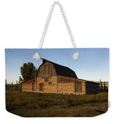 Mormon Row Barn Sunset Weekender Tote Bag