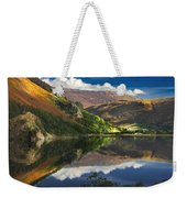 morning by Llyn Gwynant Weekender Tote Bag