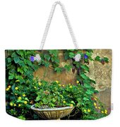 Morning Glory Garden In Provence Weekender Tote Bag