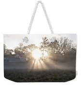 Morning Light At Valley Forge Farm Weekender Tote Bag