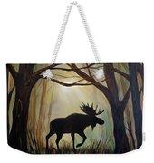 Morning Meandering Moose Weekender Tote Bag