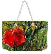 Morning Poppies Weekender Tote Bag