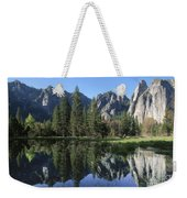 Morning Reflection At Yosemite Weekender Tote Bag