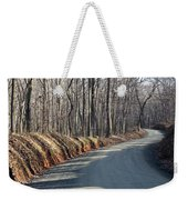 Morning Shadows On The Forest Road Weekender Tote Bag