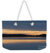 Morning Sun Rising At Arctic Sea Weekender Tote Bag