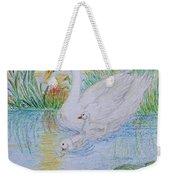 Morning Swim I  Original Colored Pencil Drawing Weekender Tote Bag