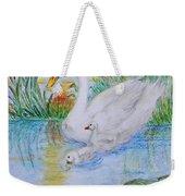 Morning Swim II  Edited Original Art Weekender Tote Bag